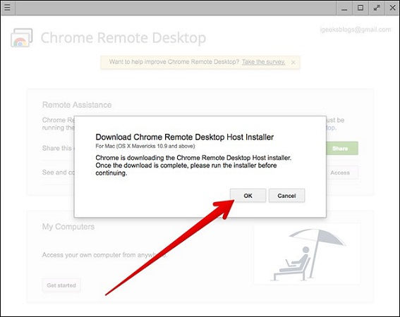 iMessage For PC Download Chrome Remote Desktop