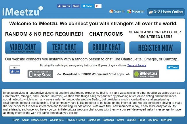 iMeetzu - Top Sites Like Omegle - TechTade