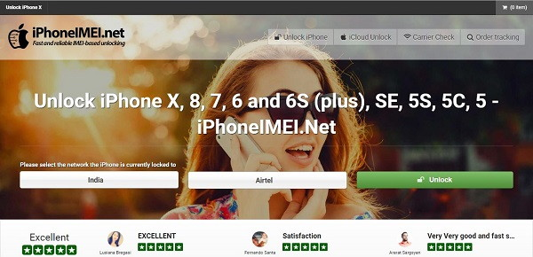 iPhoneIMEI.net - Select The Network - iCloud Bypass