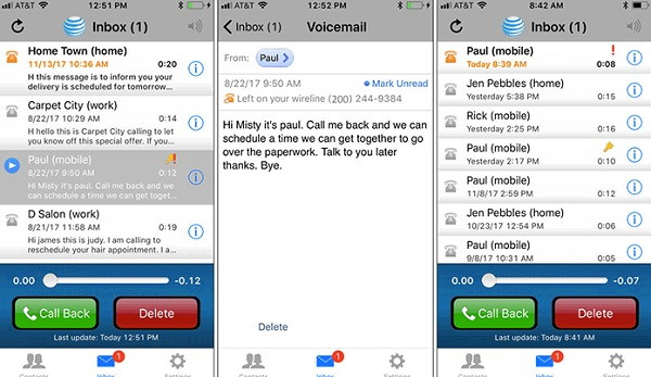 AT&T Voicemail Receiver - Voicemail Apps