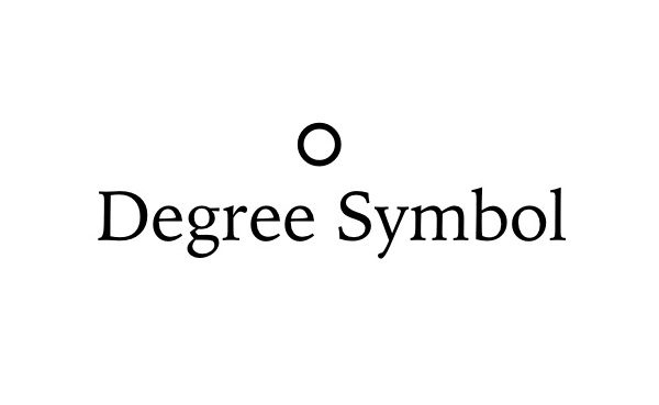 Degree Symbol in MAC - TechTade