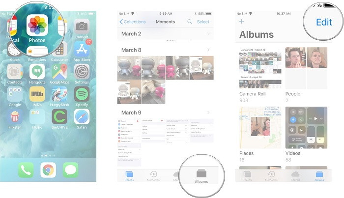 Delete Photo Albums on iPhone