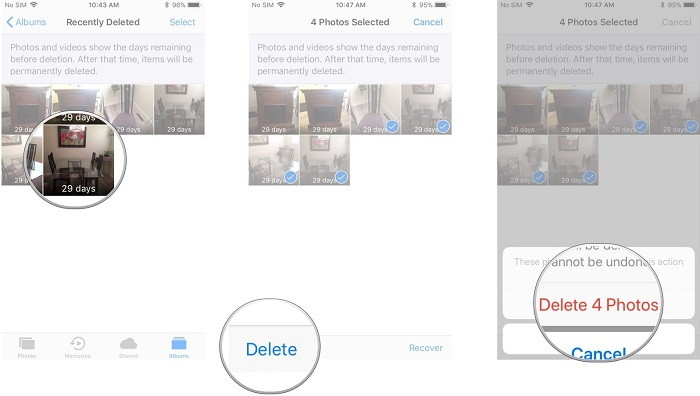 permanently delete photos from iPhone - TechTade