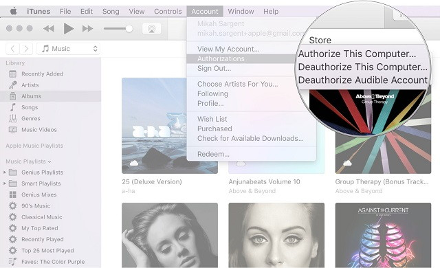 Deauthorise Your Account on iTunes for Mac - TechTade