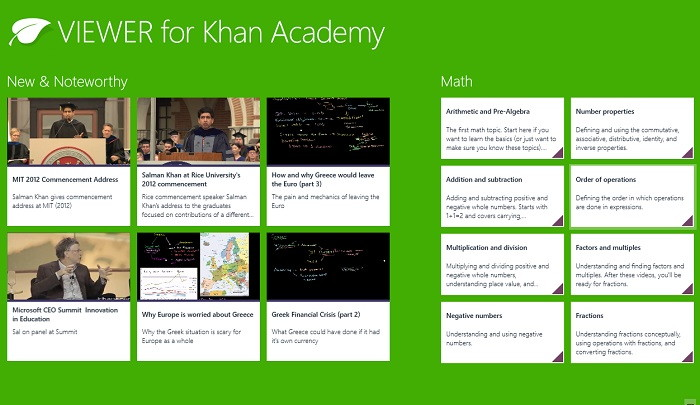 Learning Apps - Khan Academy