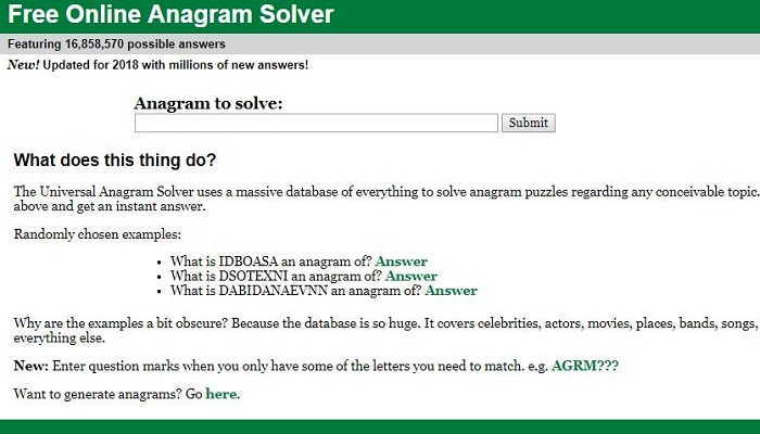 Anagram-Solver - Best Anagram Maker