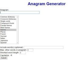 Futureboy - Best Anagram Maker Sites