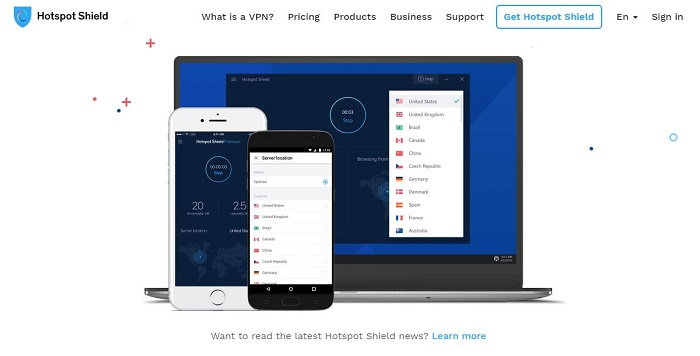 Hotspot Shield - VPN on Mac