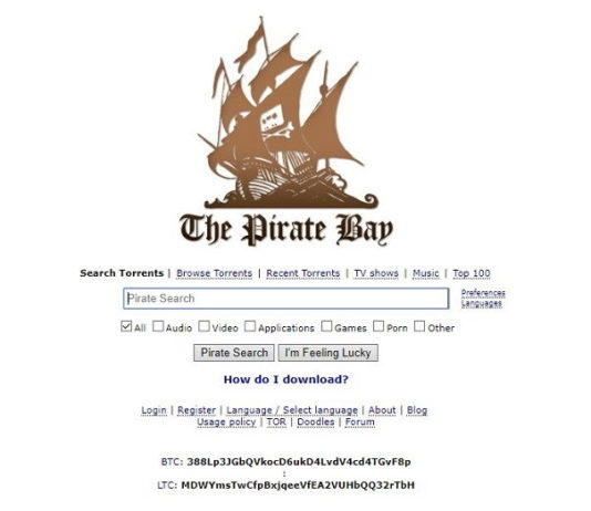 PiratesBay - Free Torrent Sites