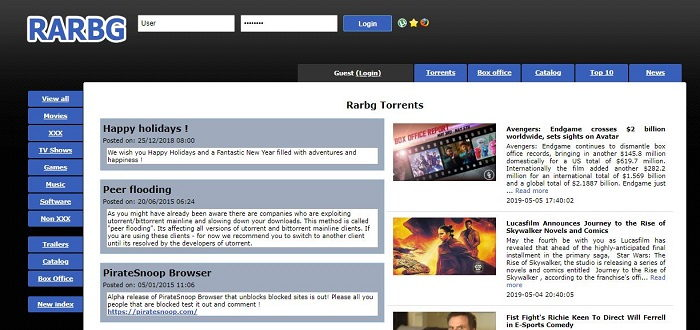 RARBG.to - Best Online Torrent Sites