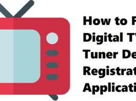 How to Fix Digital TV Tuner Device Registration Application