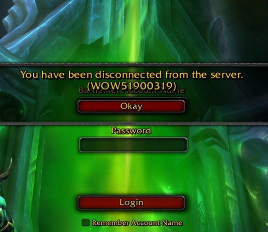 WOW51900319 Error in World of Warcraft