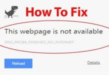 DNS_Probe_Finished_No_Internet Error in Chrome