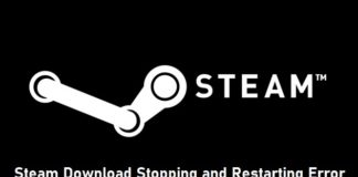Steam Download Stopping and Restarting Error