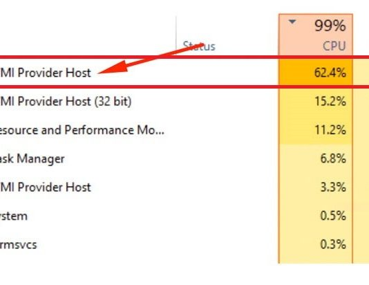 WMI Provider Host (WmiPrvSE.exe) High CPU usage on Windows 10