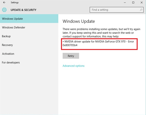 0x800705b4 Error in Windows Update and Defender