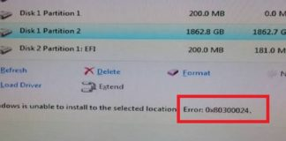 0x80300024 Error When Installing Windows