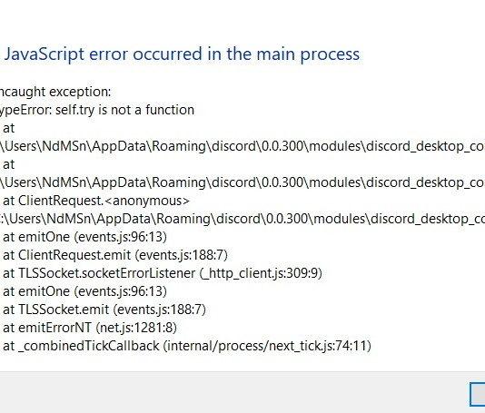 Discord Javascript Error