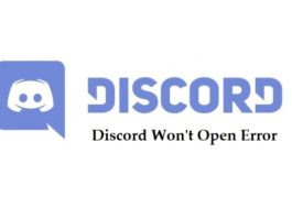 Discord Won't Open Error