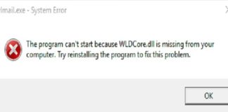 WLDcore.dll is Missing Error