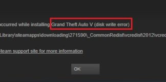 Steam Disk Write Error in Windows 10