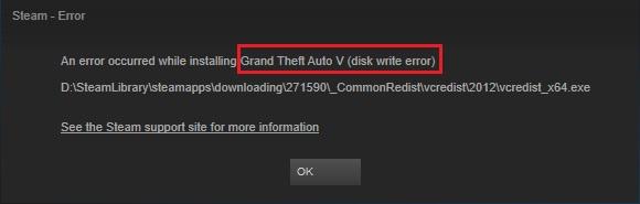 Steam Disk Write Error in Windows 10
