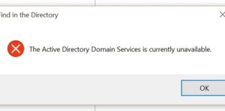 The Active Directory Domain Services is Currently Unavailable Error