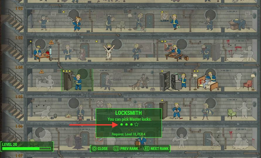 How Fallout 4 Perk Chart Works