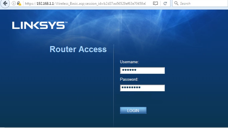 Linksys Router Login Go to 192.168.1.1