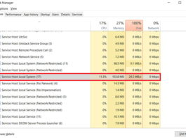 Service Host Local System High Disk Usage in Windows 10, 8 and 7