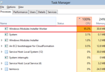 Windows Modules Installer Worker High CPU Usages