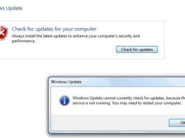 Windows Update Service Not Running in Windows 10