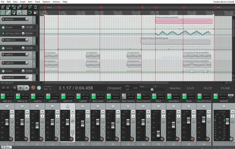 Reaper Music Production Software
