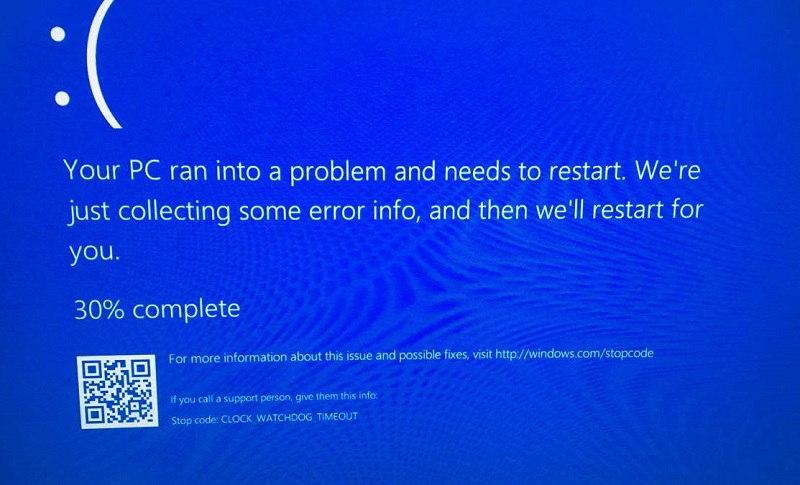 Clock Watchdog Timeout or CLOCK_WATCHDOG_TIMEOUT BSOD Error in Windows 10
