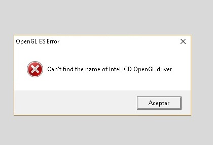 How to Fix Can't Find the Name of Intel ICD OpenGL Driver Error