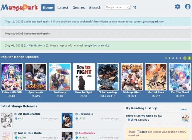 Best Sites Like MangaPark to Read Manga Online