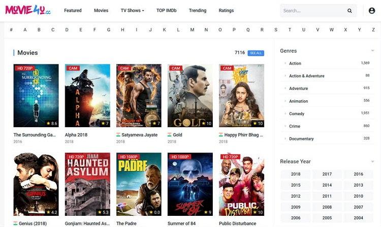 Movies4u - Movie4u Alternatives